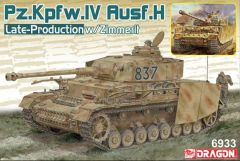 Dragon 1/35 Pz.Kpfw.IV Ausf.H Late Production w/Zimmerit (2 in 1) # 6933