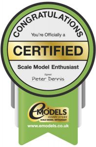 Certified Scale Model Enthusiast Gold Sticker