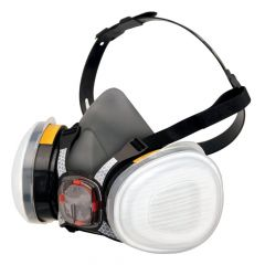 Force 8 Half Mask Twin Respirator with Typhoon Valve # FM-F8-A1P2