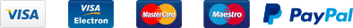 Cards we accept using Paypal