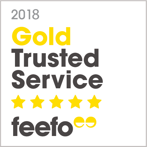 We won the @Feefo_Official Gold Trusted Service award 2018! Thanks to our customers for their reviews! #FeefoTrusted