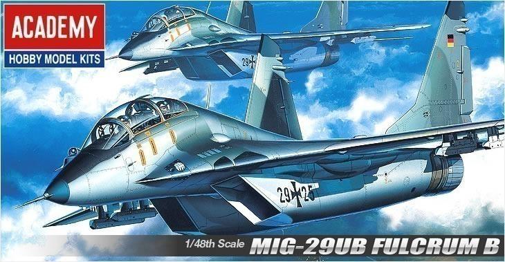 Academy 1/48 Mikoyan MiG-29UB Fulcrum # 12266 - Plastic Model Kit