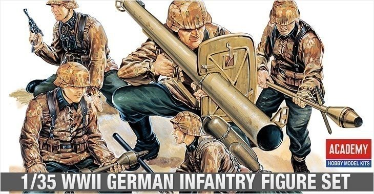 Academy 1/35 German WWII Infantry # 13252 - Plastic Model Figures