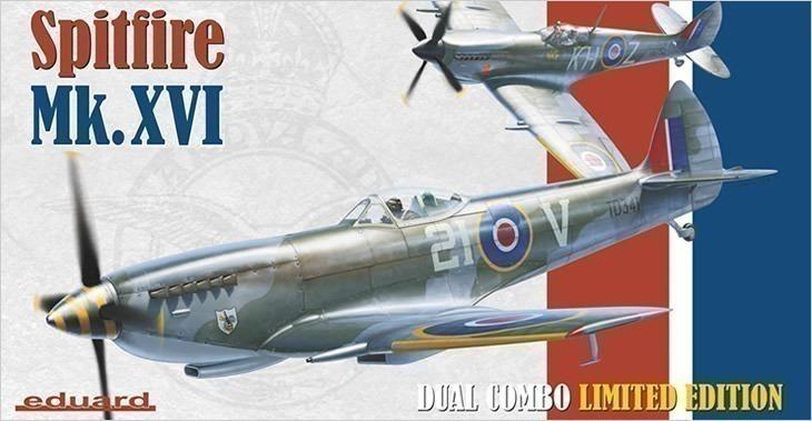 Supermarine Spitfire Mk.XVI Dual Combo # 1198 - Plastic Model Kit