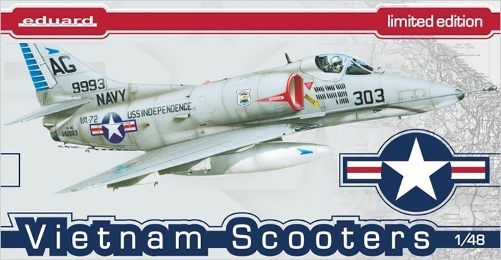 Eduard 1/48 Vietnam Scooters # 1197 - Plastic Model Kit