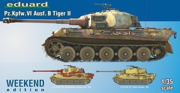 Eduard 1/35 Pz. Kpfw. VI Ausf. B Tiger II # 3741 - Plastic Model Kit