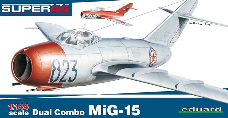Eduard kits 1/144 Mikoyan MiG-15 Dual Combo # 4443 - Plastic Model Kit
