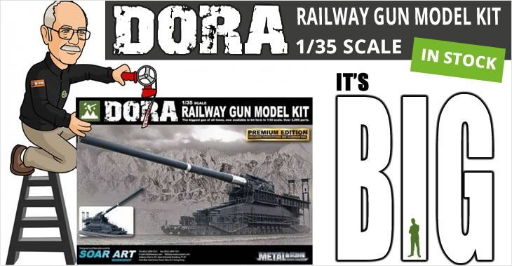 Soar Art 1/35 Dora Railway Gun # 9511 - Plastic Model Kit