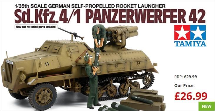 Tamiya 1/35 German Self-propelled Rocket Launcher Sd.kfz.4/1 Panzerwerfer 42 # 37017 - Plastic Model Kit