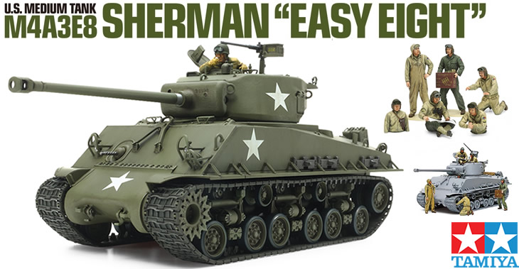 Tamiya 1/35 US Medium Tank M4A3E8 Sherman