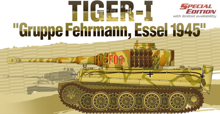 Academy 1/35 Tiger I Gruppe Fehrmann April 1945 # 13299 - Plastic Model Kit