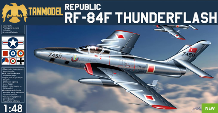 TanModel 1/48 RF-84F Thunderflash # 2201 - Plastic Model Kit
