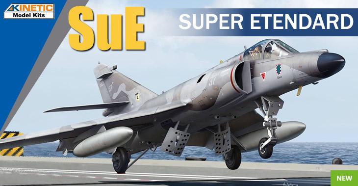 Kinetic Model Kits 1/48 Dassault Super Etendard # 48061 - Plastic Model Kit