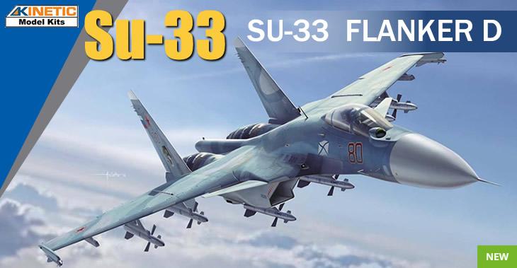 Kinetic Model Kits 1/48 Sukhoi Su-33 Sea Flanker # 48062 - Plastic Model Kit