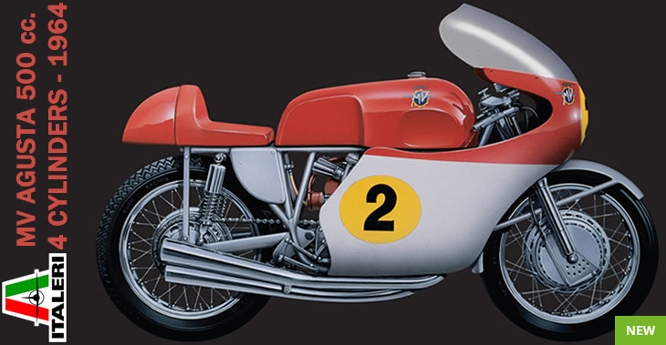 Italeri 1/9 MV AGUSTA 500 cc. 4 CYLINDERS 1964 # 6531 - Plastic Model Kit