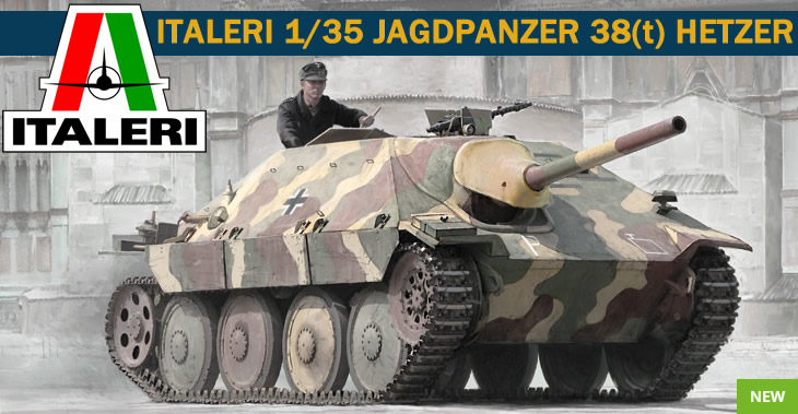 Italeri 1/35 JAGDPANZER 38(t) HETZER # 6531 - Plastic Model Kit