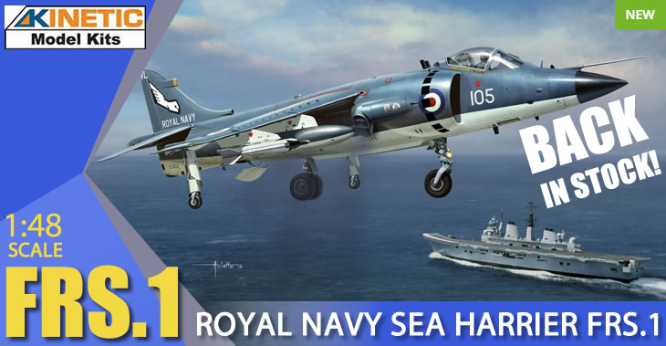 Kinetic Model Kits 1/48 FRS.1 Royal Navy BAe Sea Harrier # 48035
