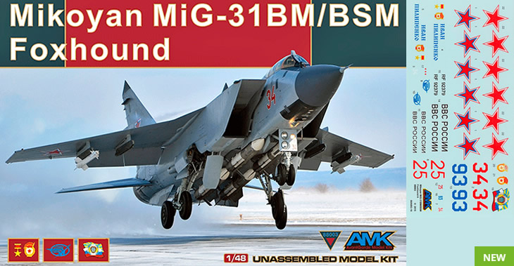 Avant Garde 1/48 Mikoyan MiG-31BM Foxhound # 88003 - Plastic Model Kit