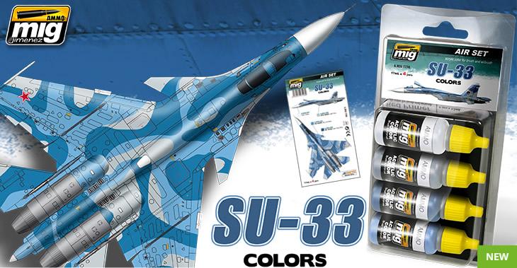 Ammo by Mig Jimenez SU-33 Russian Blue Flanker Scheme Set # 7208