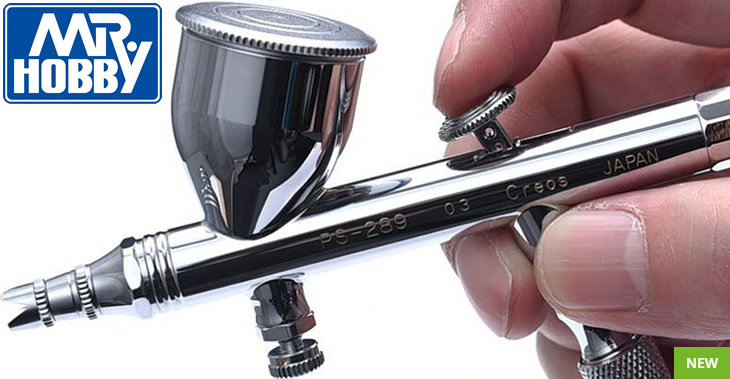 Mr Hobby 0.3mm Mr Procon Boy Double Action Platinum Airbrush # PS289