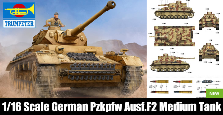 Trumpeter 1/16 Pz.Kpfw.IV Ausf.F2 German Medium Tank # 00919