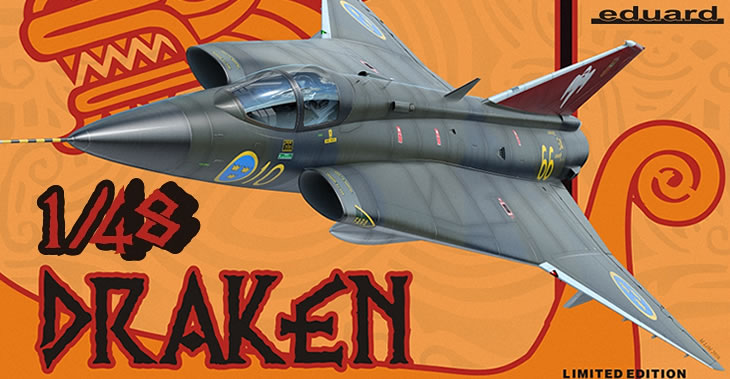 Eduard LTD EDT 1/48 Draken # 1135 - Model Kit