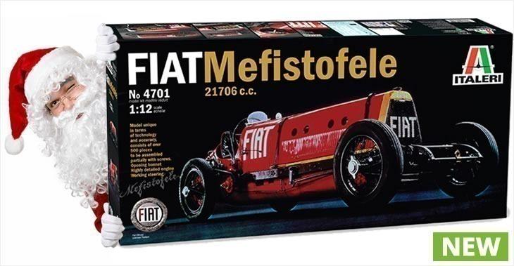 Italeri 1/12 FIAT MEFISTOFELE 21706 c.c. # 4701 - Plastic Model Kit