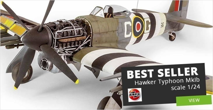 Airfix 1/24 Hawker Typhoon MkIb # A19002 - Plastic Model Kit