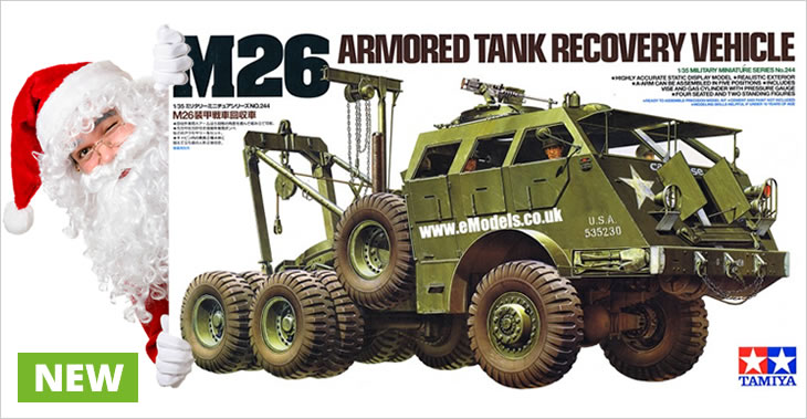 Tamiya 1/35 M26 Tank Recovery Vehicle # 35244 - Plastic Model Kit