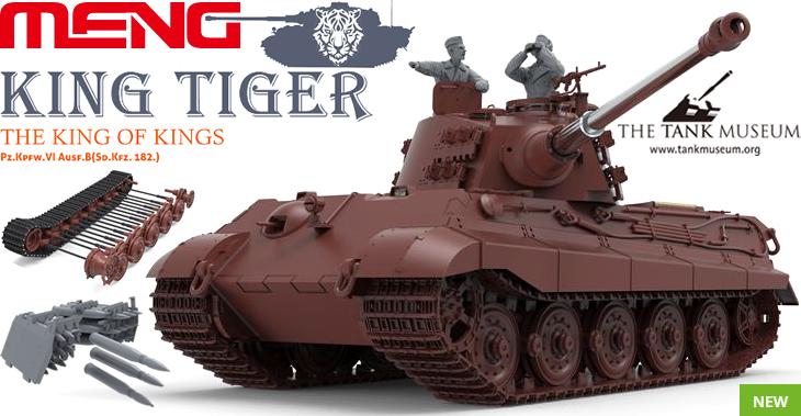 Meng Model 1/35 King Tiger Sd.Kfz.182 (Henschel Turret) # MNGTS-031