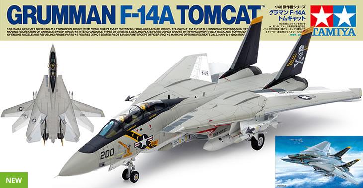 Tamiya 1/48 Grumman F-14A Tomcat # 61114 - Model Kit