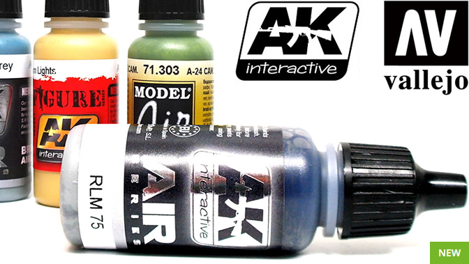 New Acrylic Paints from Vallejo and Ak Interactive
