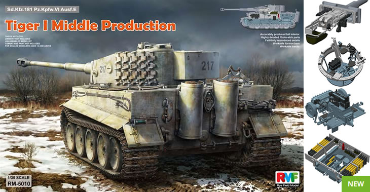 Rye Field Models 1/35 Tiger I Middle Production Full Interior # 5010
