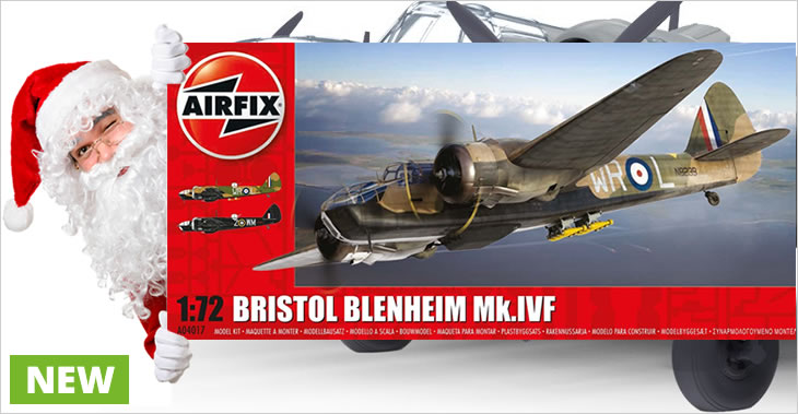 Airfix 1/72 Bristol Blenheim MkIV Fighter # A04017 - Plastic Model Kit