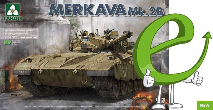 Takom 1/35 Israeli Main Battle Tank Merkava Mk 2B # 02080
