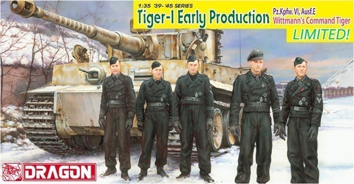 Dragon 1/35 Tiger-1 Early Production Pz.Kpfw.VI,Ausf.E Wittmann's Command Tiger # 6730
