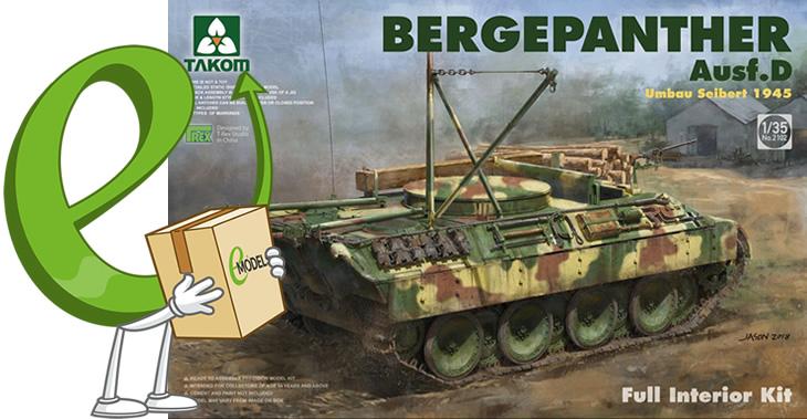 Takom 1/35 Bergepanther Ausf D Umbau Seibert 1945 w/interior # 02102