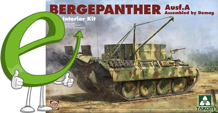 Takom 1/35 Bergepanther Ausf A Demag w/interior # 02101