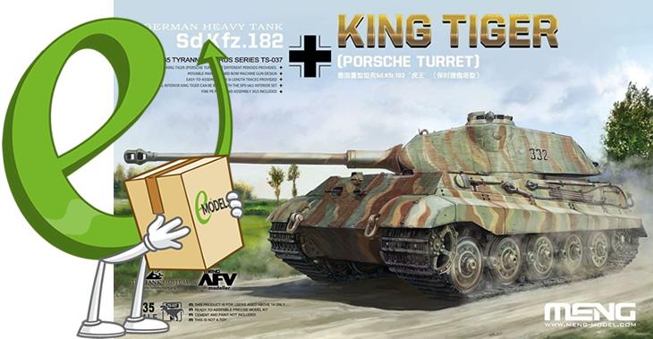 Meng Model 1/35 Sd.Kfz.182 King Tiger (Porsche Turret) # TS-037