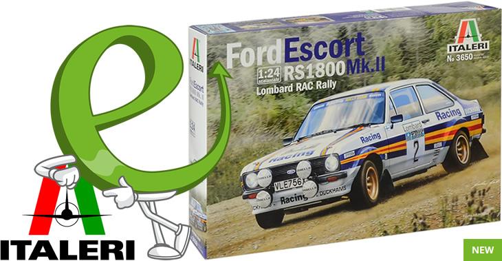 Italeri 1/24 Ford Escort RS 1800 Mk.II Lombard RAC Rally # 3650