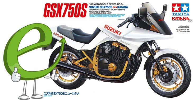 Tamiya 1/12 Suzuki GSX 750s Katana # 14034