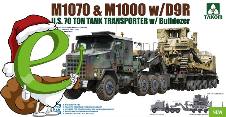 Takom 1/72 M1070 & M1000 with D9R # 05002