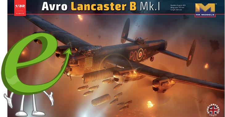 Hong Kong Models 1/32 Avro Lancaster B.I/III # 01E10