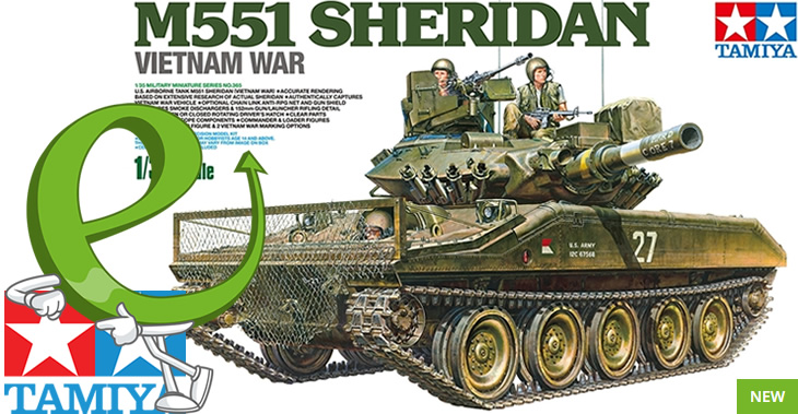 Tamiya 1/35 US Airborne Tank M551 Sheridan # 35365