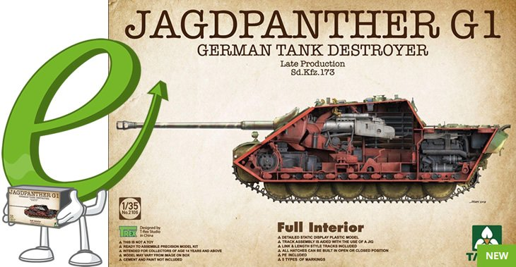 Takom 1/35 Jagdpanther G1 Late Production SdKfz 173 # 02106