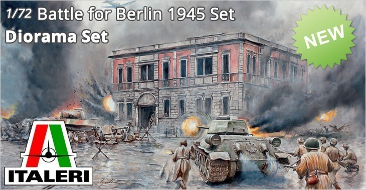 Italeri 1/72 BATTLE of BERLIN Diorama Set # 6112 - Plastic Model Diorama Set