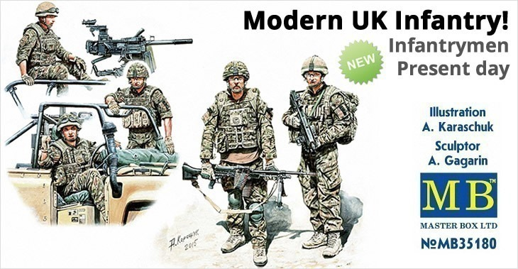 Masterbox 1/35 Modern UK Infantrymen, present day # 35180 - Plastic Model Figures