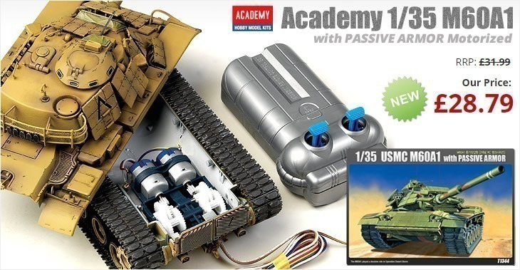 Academy 1/35 M60A1 with PASSIVE ARMOR Motorized (Motor-Driven series) # 13271 Plastic Motor Driven Model Kit