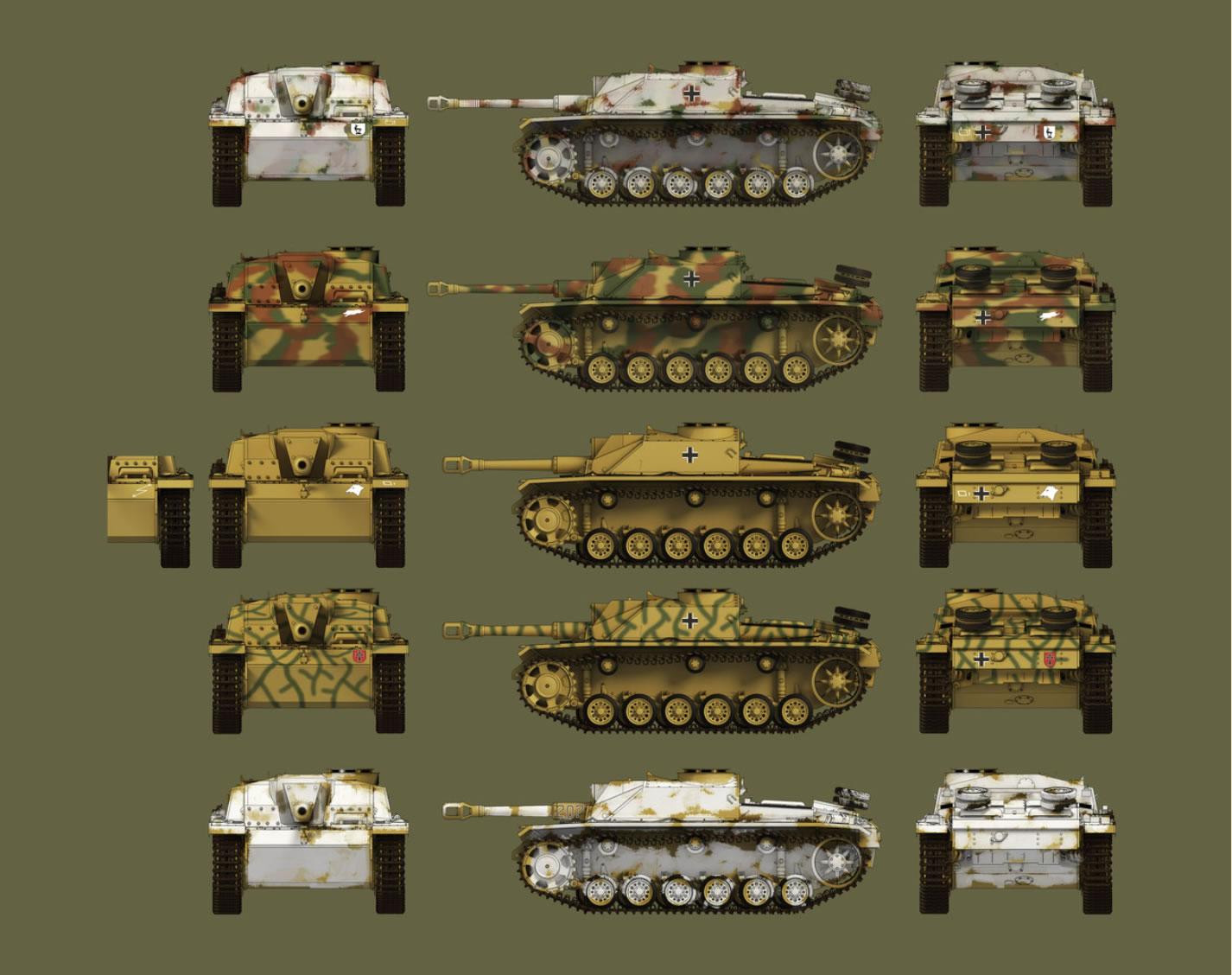Das Werk 1/35 Sturmgeschütz III Ausf.G (2 in 1-Kit) # 35021