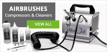 We source the best quality airbrushes to paint your master piece with. Including Iwata, Badger and Expo.